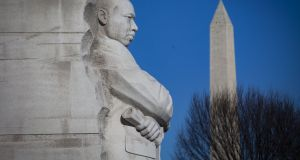 The Martin Luther King  Memorial  in Washington.    Photograph: Al Drago/Getty Images