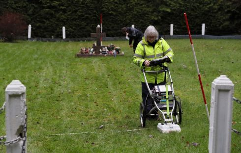 MOTHER AND BABY HOME: A geophysical survey of infant burial grounds takes place at the site of the former Sean Ross Abbey Mother and Baby Home in Roscrea, Co.Tipperary. Photograph: Brian Lawless/PA Wire