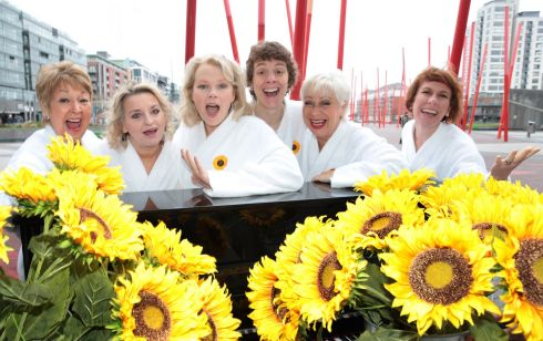 LEADING LADIES: Actors from Calendar Girls The Musical; Ruth Madoc, Rebecca Storm, Sara Crowe, Karen Dunbar, Denise Welsh and Anna Jane Casey are pictured as they touched down at Dublin's Bord Gáis Energy Theatre ahead of the opening night of Tim Firth and Gary Barlow's new musical which runs until February 2nd 2019. Photograph: Brian McEvoy
