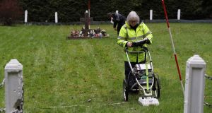 A geophysical survey of infant burial grounds at the site of the former Sean Ross Abbey mother and baby home in Roscrea. Photograph:  Brian Lawless/PA