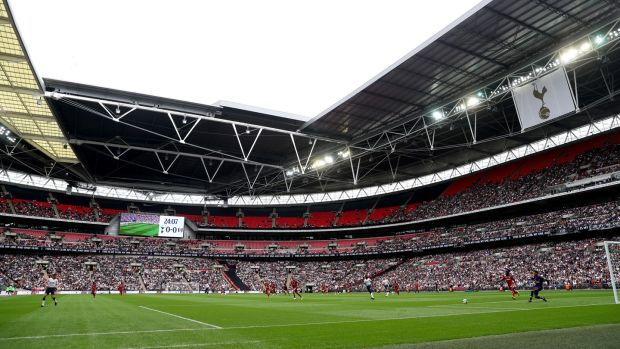 Tottenham's move to Wembley has seen matchday revenue increase. Photograph: Julian Finney/Getty