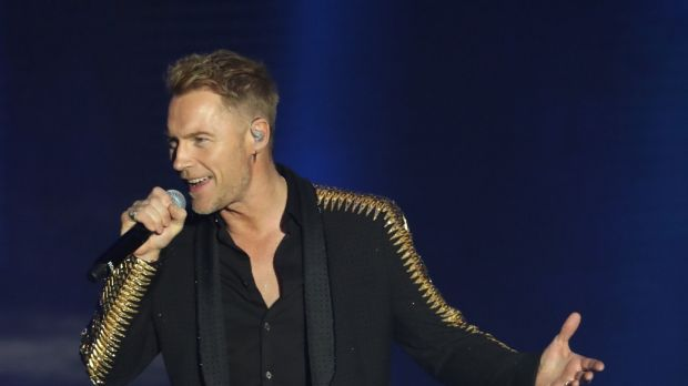 Ronan Keating of Boyzone on stage at the SSE Arena, Belfast, as part of the band's Thank You & Goodnight farewell tour. Photograph: Niall Carson/PA Wire