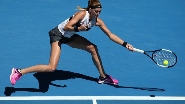 Petra Kvitova reached the Australian Open with victory over Danielle Collins. Photograph: Hamish Blair/EPA