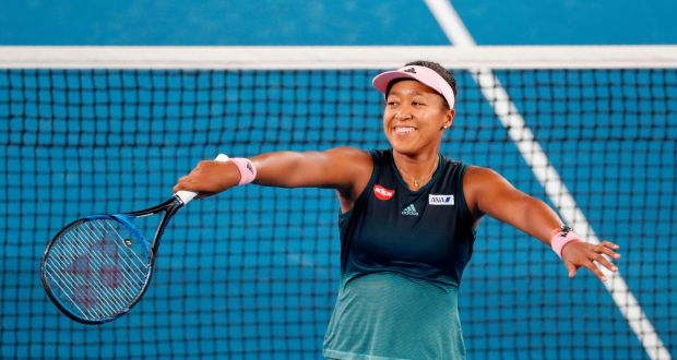 Japan's Naomi Osaka celebrates her victory over Karolina Pliskova. Photograph: David Gray/AFP/Getty