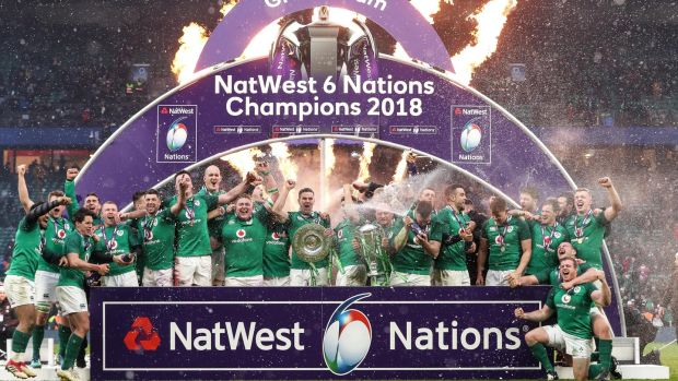Ireland secured the Grand Slam at Twickenham in 2018. Photograph: Billy Stickland/Inpho