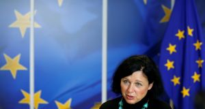 European commissioner Vera Jourova said people obtaining EU nationality should need to have a genuine connection to the member state. Photograph: Reuters