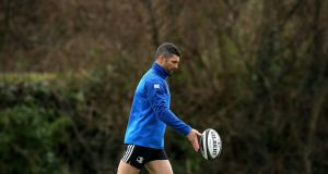 Rob Kearney will lead Leinster against the Scarlets on Friday. Photograph: Ryan Byrne/Inpho