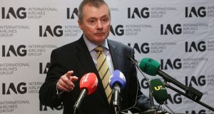 IAG chief executive Willie Walsh: he  said the company would not enter a bidding war for Norwegian. Photograph: Niall Carson/PA Wire