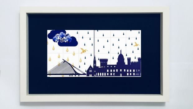 Alanna Plekkenpol from Co Wicklow whose vivid whimsical tiles feature her illustrations applied to traditional Delft blue patterns