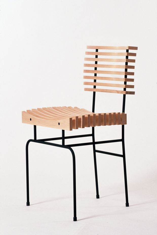 A slatted chair by Colin Harris who has his own studio in Newcastle, Co Dublin