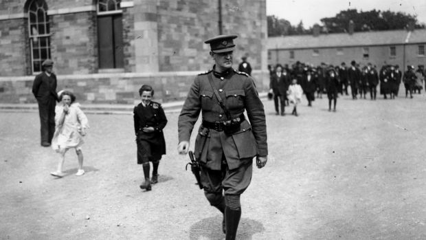 Sinn Fein leader and Commander-In-Chief of the Irish Free State army Michael Collins (1890 - 1922). Photograph: Walshe/Getty Images.