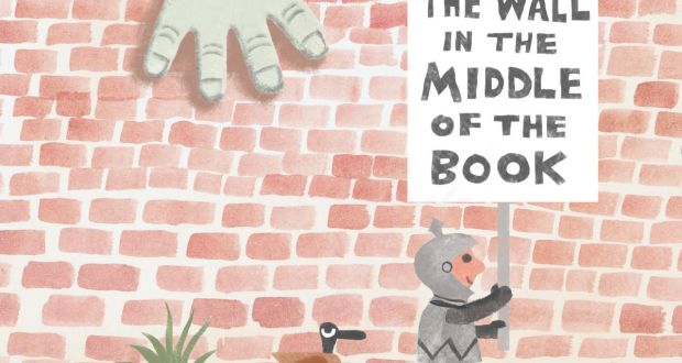 "Jon Agee's ""The Wall in the Middle of the Book"" is a humorous exploration of fear."