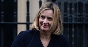 "British secretary of state for work and pensions Amber Rudd. ""At the moment there is a lot of change going on. I have called for a free vote for the amendments on Tuesday, and we'll see what position the government takes,"" she told BBC's Newsnight programme. Photograph: Will Oliver/EPA"
