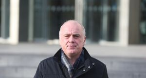 Former Anglo Irish Bank chief executive David Drumm pictured leaving court. File photograph:  Collins Courts