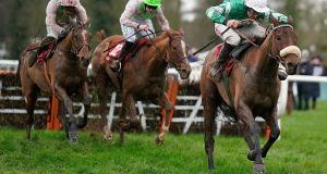 Presentin Percy (R) made a winning return to action at Gowran Park. Photograph: Alan Crowhurst/Getty