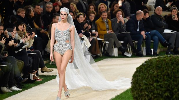 Vittoria Ceretti walks the runway during the Chanel Spring Summer 2019. Photograph: Peter White/Getty Images)