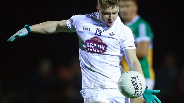 Jimmy Hyland: there is excitement around Kildare surrounding the young forward's potential. Photograph: Tommy Dickson/Inpho