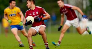 Cillian McDaid: back from Australia and could prove a major addition to Galway's attack. Photograph: James Crombie/Inpho