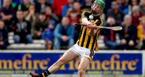 Martin Keoghan: versatile young Kilkenny man clearly relishes the physical exchanges and can become a fixture in Cody's side. Photograph: James Crombie/Inpho
