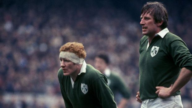 Gerry McLoughlin and Moss Keane playing for Ireland. Photograph: Billy Stickland/Inpho