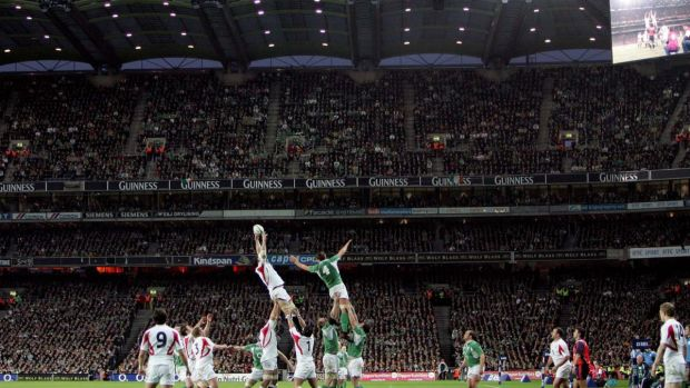 Ireland take on England at Croke Park during the 2007 Six Nations. Photograph: Morgan Treacy/Inpho