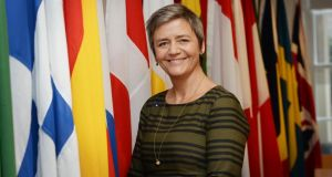 "European commissioner for competition Margrethe Vestager: ""When you become big, you have a special responsibility not to use your muscle to deny others the chance to compete against you."" Photograph: Alan Betson"