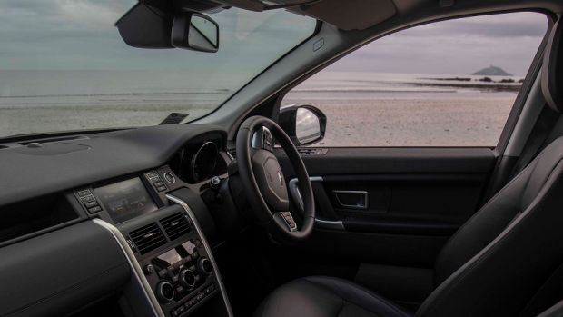 The interior of Rachel Allen's Land Rover Discovery Sport