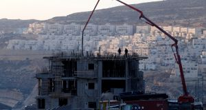 A construction site in the Israeli settlement of Givat Zeev, in the occupied West Bank, in 2016. Photograph: Baz Ratner/Reuters