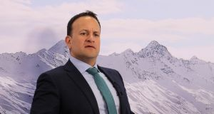 "Taoiseach Leo Varadkar during an interview in Davos. ""We should never forget that Brexit is a problem that was created by Britain."" Photograph: Francis MacGuire/Reuters"