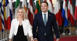 The Taoiseach Leo Varadkar and Minister of State of State for European Affairs Helen McEntee   in Brussels last year. File photograph: Philippe Lopez/ AFP/Getty