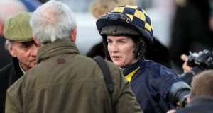Rachael Blackmore landed the BetVictor Solerina Mares Novice Hurdle at Fairyhouse aboard Honeysuckle. Photograph: Laszlo Geczo/Inpho