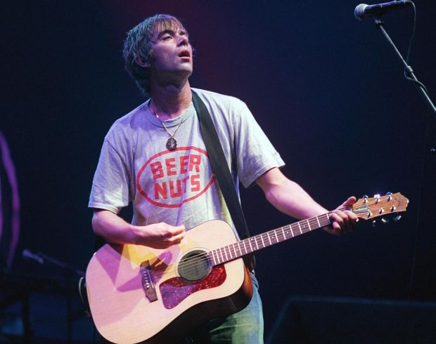Damon Albarn during his days with Blur at the Point Theatre in Dublin, 1999. File photograph: Terry Thorp