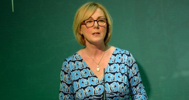 Minister for  Social Protection Regina Doherty: 'The vast majority of our schools don't have kitchens and we're not going to retrofit all of the schools that don't but there are other ways that we can do this' Photograph: Dara Mac Dónaill/The Irish Times