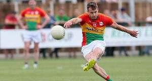 Paul Broderick scored 1-5 for Carlow in the victory over Sligo. Photograph: Gerry McManus/Inpho