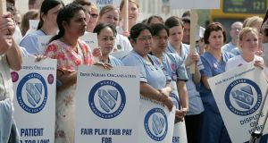 Nurses are due to hold a national one-hour work stoppage this Wednesday. Photograph: Collins