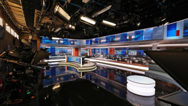 28/01/'19 The new RTE News TV studio this morning at RTE Donnybrook. The new studio goes into operatipon today..Picture Colin Keegan, Collins Dublin. ***NB EMBARGO ON ALL PLATFORMS IN PLACE UNTIL 2pm THIS AFTERNOON 28th Jan '19**