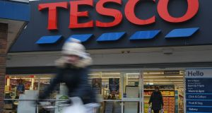 Up to 9,000 jobs are at risk as part of a restructuring programme announced by British supermarket giant Tesco on January 28, 2019. Photograph: Daniel Leal-Olivas/AFP/Getty Images