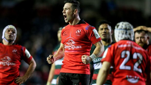 John Cooney: Ulster scrumhalf is quick, strong and an intelligent reader of the game. He's also an accomplished place kicker. Photograph: Gary Carr/Inpho
