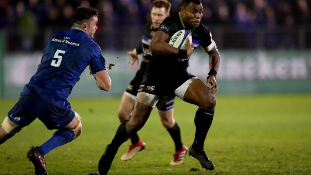 Joe Cokanasiga: Allied to his powerful frame, the Bath and England winger possesses pace and decent footwork, making him a real handful for defenders. Photograph: Ryan Byrne/Inpho