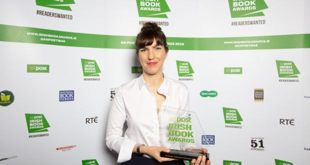 Emilie Pine, winner of the Irish Book of the Year 2018 for Notes to Self, at the An Post Irish Book Awards last November with her Newcomer of the Year Award. Photograph: Patrick Bolger