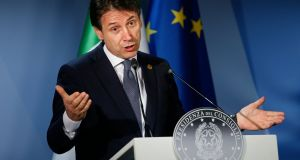 Italian prime minister Giuseppe Conte at European Council in Brussels in June, 2018. Photograph: EPA/ Julien Warnand