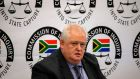 Angelo Agrizzi, Former COO of Bosasa,  testifies at the Commission of Inquiry into State Capture in Johannesburg. Photograph: Wikus de Wet/AFP/Getty Images