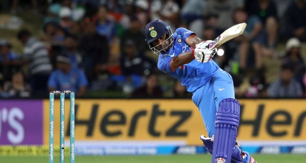 India's Ambati Rayudu in action against New Zealand during the third one-day international at Bay Oval in Mount Maunganui. Photograph: Getty Images