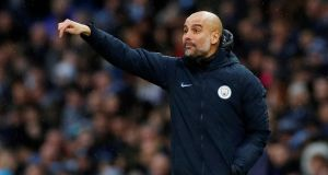 "Manchester City manager Pep Guardiola: ""All the players in the academy we trust them – if they want to be patient and stay; if they want to leave they leave.""  Photograph: Reuters/Phil Noble"