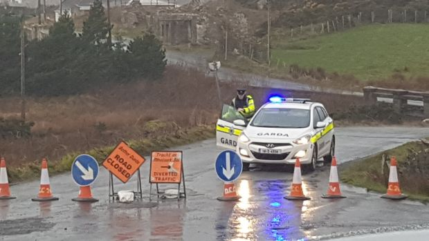 The road in Gortahork, Co Donegal, where the crash took place. Photograph: Rebecca Black/PA Wire