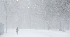 Snow blanketing Prospect Park in Brooklyn, in January 2014. Forecasters expect Wednesday's high temperature to be minus 25 degrees Celsius in Chicago and Minneapolis. Photograph: Todd Heisler/The New York Times