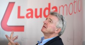 Ryanair chief executive Michael O'Leary declined to disclose the price  paid for Laudamotion. Photograph: Helmut Fohringer/AFP