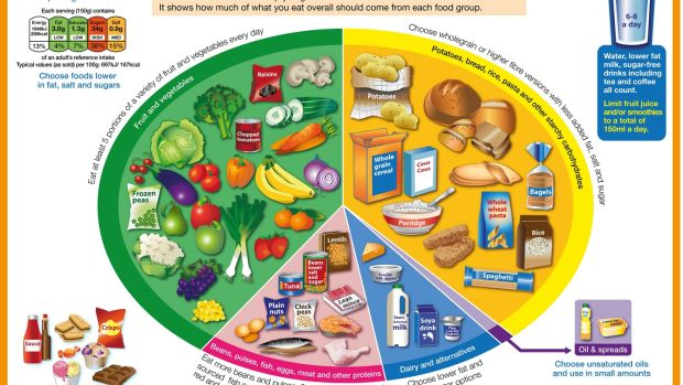 The Eatwell Plate guidelines in the UK