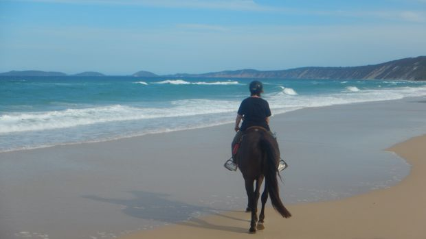 Gemma Tipton riding at Rainbow Beach