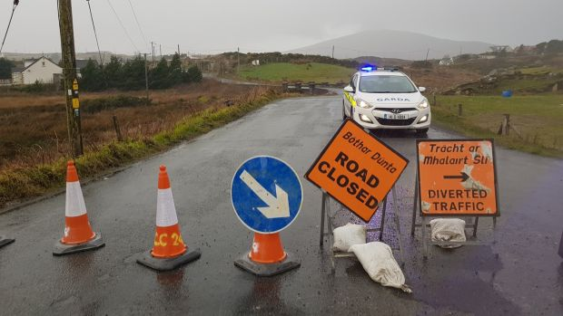 Scene in Gortahork, Donegal where four young men died in a road crash: Every accident has its own tragic timeline. Photograph: Rebecca Black/PA Wire